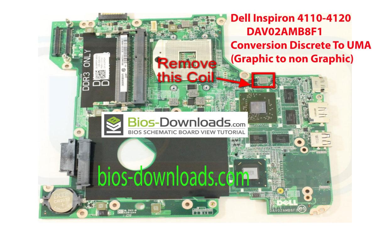 Dell Inspiron 4110-4120 _ DAV02AMB8F1 REV:F Conversion Discrete to