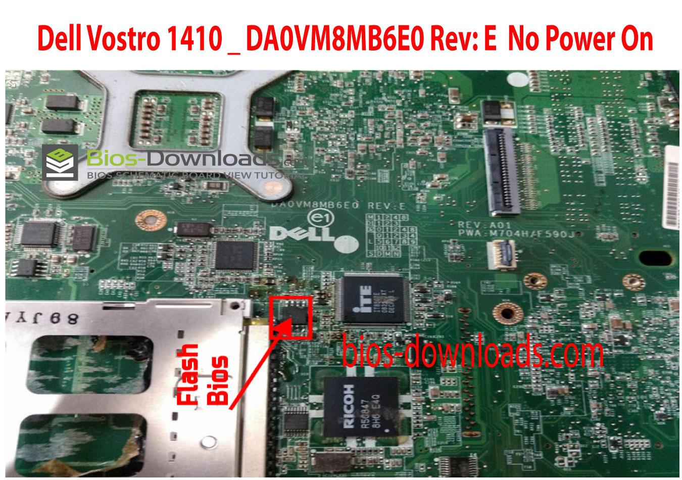Dell Vostro 1410 _ DA0VM8MB6E0 Rev: E No Power On