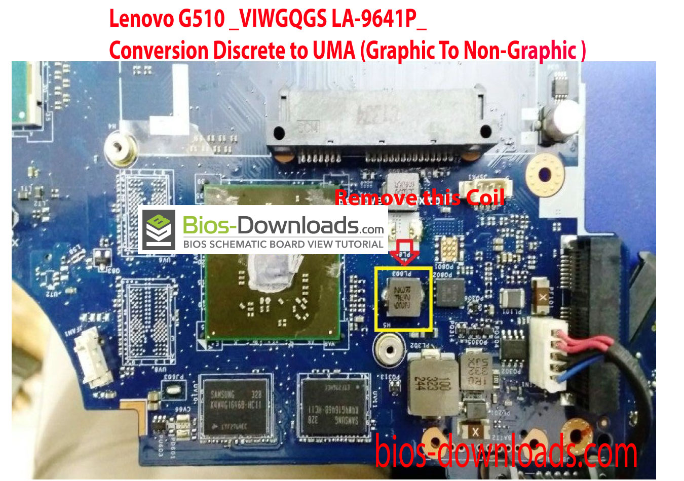 Lenovo G510 _VIWGQGS LA-9641P_ Conversion Discret to UMA (DIS TO UMA